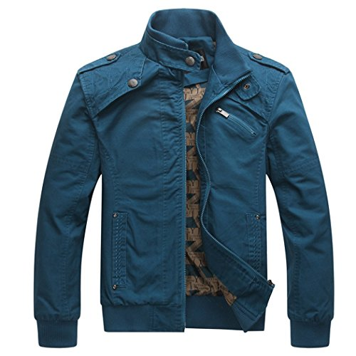 Dehutin 2017 Hombres Puro algodón Casual Talla Grande Chaqueta Ajustado Chaqueta de Bombardero Moda Abrigo