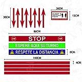 KIT VINILOS PEGATINAS LINEAS SUELO MANTENGA LA DISTANCIA PARA FLUJO DE CLIENTES (SIN LAMINADO)