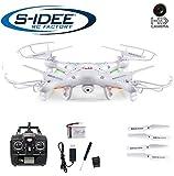 s-idee 01541 Quadrocopter X5C Forscher Syma X5C HD Kamera mit Tonaufzeichnung mit Motor-STOPP-Funktion & Akku-Warner, 360° Flip Funktion, Nachfolger vom Syma X5, 2.4 GHz, 4-Kanal, 6-AXIS...