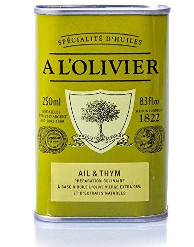 A L'Olivier - Olivenöl mit Knoblauch & Thymian , 250 ml