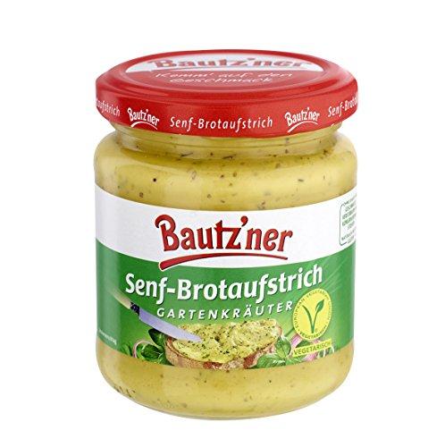 BAUTZ'NER Senf Brotaufstrich Gartenkräuter, 6er Pack (6 x 200 ml)