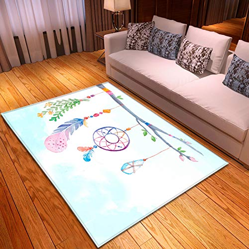 Oukeep Thick Non-Slip Double-Layer Carpet Suitable For Large Foot Pads In Living Room, Bathroom And Bedroom Wind Chime Pattern Door Mat