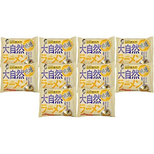 健康フーズ 河村通夫の大自然ラーメン みそ味 1食×10個