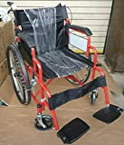 Yabe Trading Lightweight Self Propelled Folding Wheelchair with Hand Brakes and Foot Rest