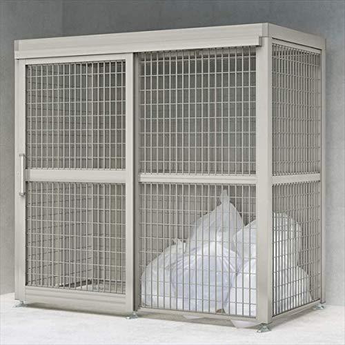 四国化成 ゴミストッカーAMF型 引き戸式 メッシュ屋根 アンカー式 基本セット GSAMF-MA2010 『アルミ製 ゴミ収集庫 業務用 公共用 集合住宅用』 『ゴミ袋(45L)集積目安 75袋、世帯数目安 38世帯』 ステンカラー(SC)