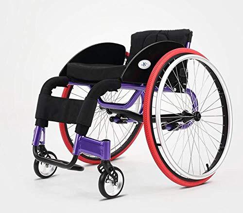 YHtech Silla médica de rehabilitación, sillas de Ruedas, Deportes Ocio Sillas de Ruedas Plegable portátil de 11,5 kg ergonómico cómodo reposabrazos Respaldo Regulable Piernas 100Kg Carga del c