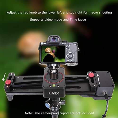 Motorized Camera Slider GVM Dolly Video Sliders 11.8 inch With Automatic Cycle Time Lapse Macro shooting Wide-angle Shooting