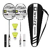 Whizz Kratzfestes Design Badminton Schläger Racket Set mit Tasche Griffband, 100% Graphit (Y56...
