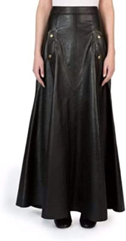 Azrah Traders Leather Full Skirt for Women - Regular Use Slim Skirt