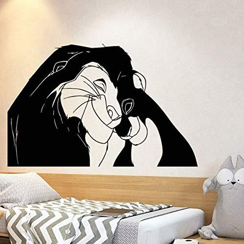 Tianpengyuanshuai Muurtattoo Leeuw Cartoon muursticker vinyl kleuterschool kinderkamer kinderkamer decoratie huis