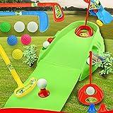 GGOODD Juego de Juguetes para Palos de Golf para Adultos Y Niños Inicio Mini Golf Set Cubo De Golf + Verde + Tres Cañas + Ocho Bolas + Dos Puertas Y Dos Tees