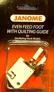 Janome Even Feed Foot with Quilting Guide Oscillating Hook Models for Low-Shank Sewing Machines
