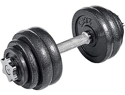 arteesol - Mancuernas Ajustables de Hierro Fundido Individual 10 kg, 15 kg, 20 kg, 30 kg, para Profesionales del Fitness (1x15kg)