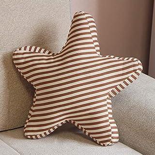 Hogar Almohada en Forma de Estrella de Cinco Puntas Cama Acolchado del Respaldo de la Almohadilla de Apoyo (Incluyendo Almohada Core) Tamaño: 45 x 45 cm Ingxijie1ha (Color : Color3)