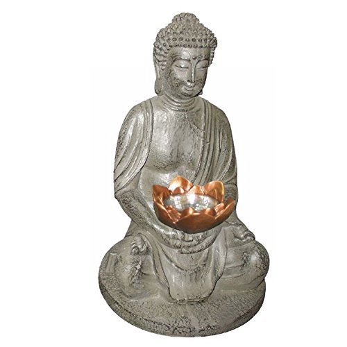 Lámpara solar de Buda para jardín, lámpara solar para exterior, figura decorativa...