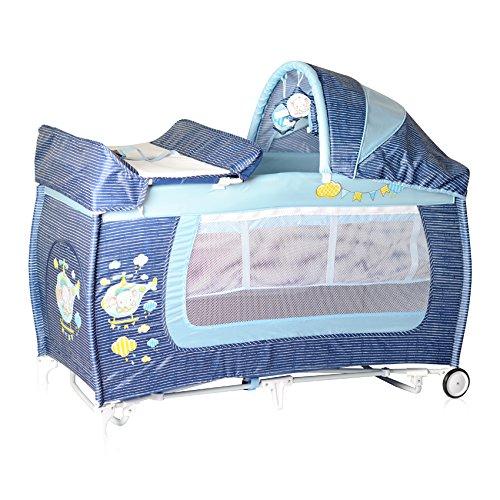 Lorelli 10080371816 Lit Parapluie + Mode Lit à Bascule Danny 2 Bleu