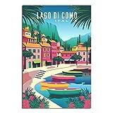 Vintage-Poster Lago Di Como Leinwand-Kunstposter Malerei