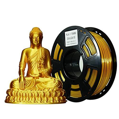 Stronghero3D desktop fdm 3d drucker filament pla seide Colors 1.75mm 1kg (2.2 lbs) dimension genauigkeit von + / -0.05mm (Gold)