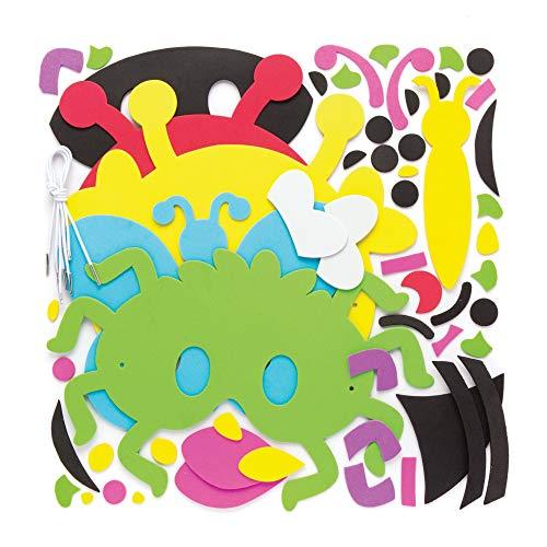 """Baker Ross Moosgummimasken """"Insekten"""" (4 Stück) – Frühlings-Bastelidee für Kinder zum Verzieren und Verkleiden - ideal zum Kindergeburtstag und Karneval"""
