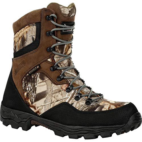 Rocky Waterproof 400G Insulated Hunting Boot Size 10.5(M) Brown Camo