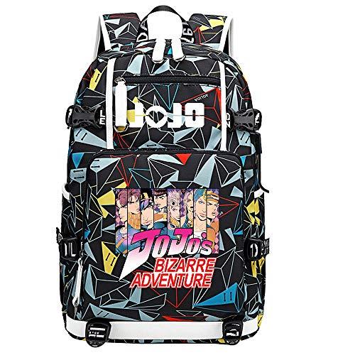 GOYING JoJo's Bizarre Adventure Jonathan Joestar/Joseph·Joestar Shoulder Bag Outdoor Backpack for Plenty of Storage Bag USB Unisex-E