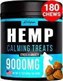 Hemp Calming Treats for Dogs - Made in USA - 180 Soft Dog Calming...