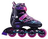 Patines en línea ajustables, rodillos seguros y duraderos para niñas y niños, rendimiento de forma física Patines de cuchillas en línea, patines de moda para mujeres, jóvenes y adultos. Zapatos Patine