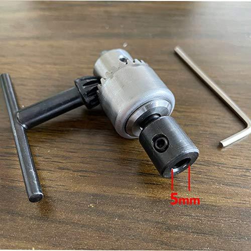 LILICEN LYJ Micro Motor de Taladro de Taladro Rango de sujeción 0.3-4mm Mini pavimento montado en cónica Mandril de Taladro con Llave de Mandril 3.17/4/5/6/8 mm Manga del Eje del Motor (Color : 5mm)