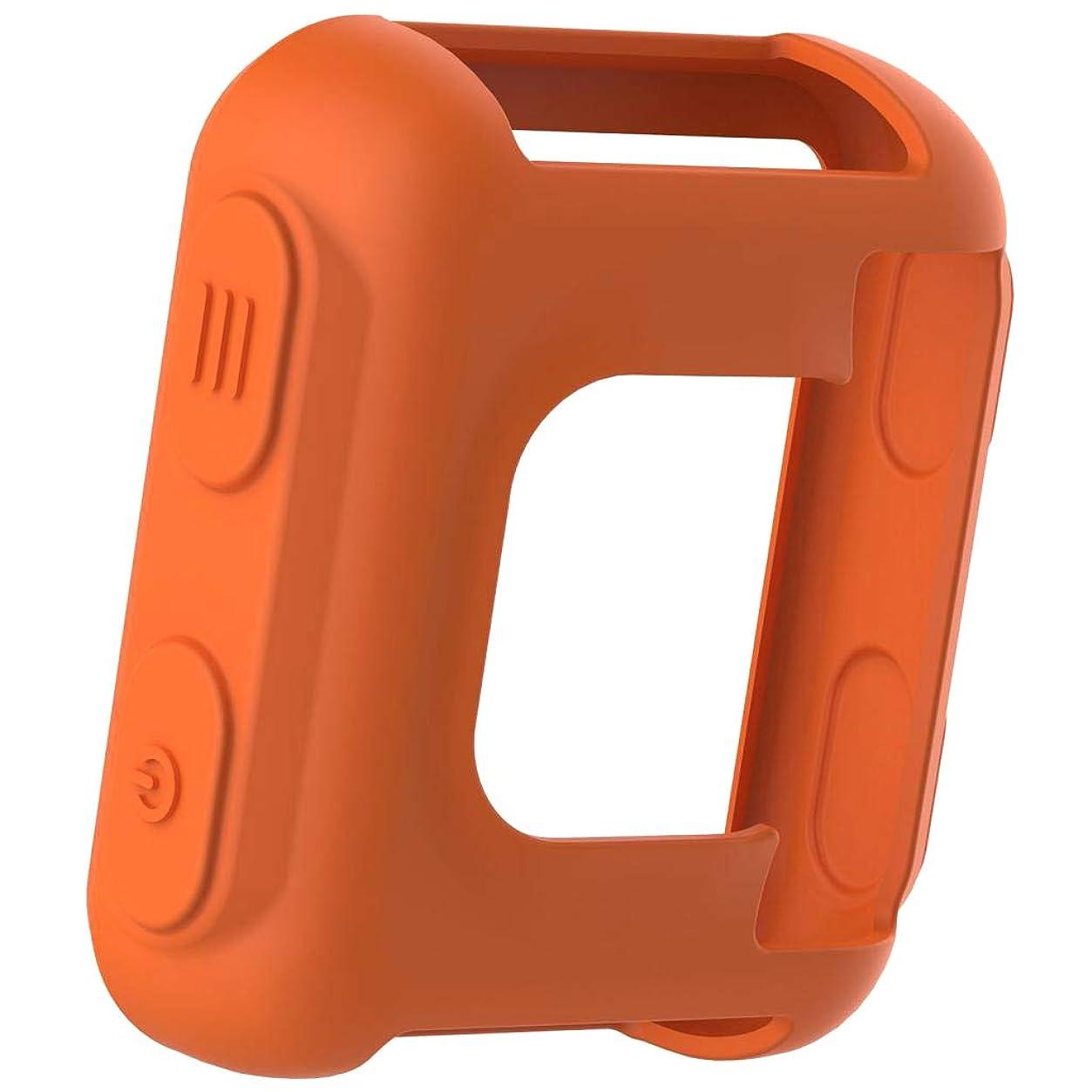 変な些細な従順perfk 保護カバー ケース シリコン製 互換性 耐衝撃 保護ケース - オレンジ