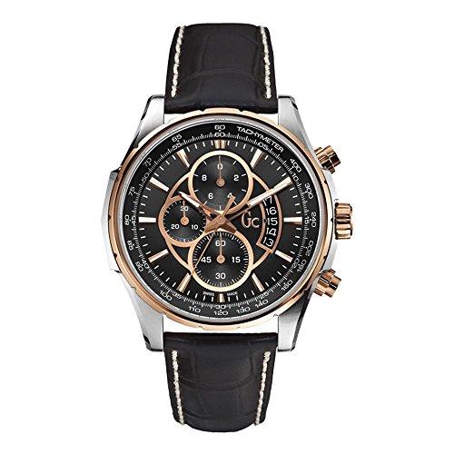 GC X81007G2S - Orologio da polso, pelle, colore: nero