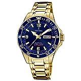 Festina F20479/2 Automatik Automatic Uhr Herrenuhr vergoldet 10 bar Datum Gold