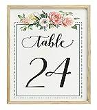 Darling Souvenir Querida Recuerdo de la caligrafía 1-30 Floral recepción números de la Tabla de la Boda Decoración Tarjetas Tabla (5x7 Pulgadas)