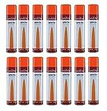 REPLOOD 12X Bomboletta Unilite 300 ML Gas Ricarica Accendini Butano con Adattatori