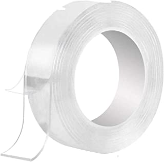 Shree acupressure 3 Meter Double Sided Adhesive Silicon Tape, Transparent Adhesive Heavy Duty, Heat Resistant, Multi-Funct...