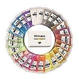 VITARIE Prime mica Poudre Pigment - Ultimate énorme Pigment en Poudre Set Effet métallique pour résine époxy (25 Couleurs / 10g) - Fournitures oz Slime Rouge
