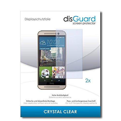 disGuard® Bildschirmschutzfolie [Crystal Clear] kompatibel mit HTC One M9s [2 Stück] Kristallklar, Transparent, Unsichtbar, Extrem Kratzfest, Anti-Fingerabdruck - Panzerglas Folie, Schutzfolie