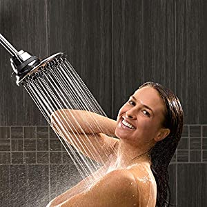 Waterpik 7-Mode RainFall+ Rain Shower Head, Chrome, 1.8 GPM ASR-733E