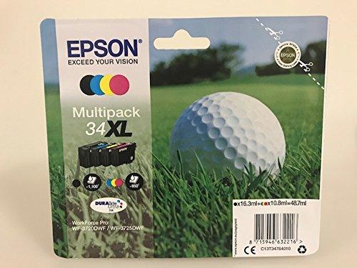Cartucce originali per Epson Workforce WF-3720, WF-3725 (XL Multipack)