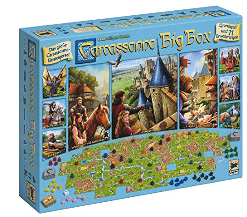 Asmodee Carcassonne Big Box, Grundspiel, Familienspiel, Strategiespiel, Deutsch
