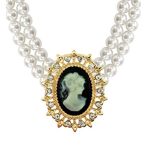Widmann 7535Q Perlenkette, gelb, one Size