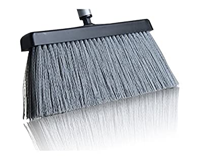 Fuller Brush Black Deep Reach Slender Broom Head - Commercial Floor Sweeper For Sweeping Dust & Cleaning Carpet, Wood Laminate, Vinyl & Hardwood Floors