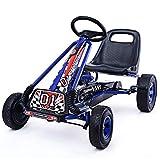 COSTWAY Go Kart Racing para Niños Coche de Pedal Asiento Ajustable con Ruedas de Goma Embrague y Freno Infantil Juguete...