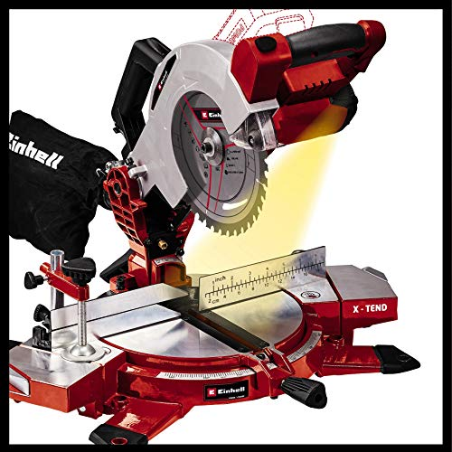 Einhell Akku-Kappsäge TE-MS 18/210 Li-Solo Power X-Change (Li-Ion, 18 V, 3.000 min-1, neigbarer Sägekopf, X-Tend Werkstückauflagen, HM-Präzisionssägeblatt, ohne Akku und Ladegerät) - 8