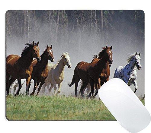 Wknoon American Quarter Horses Prairie Animal Mouse Pad Custom, Galloping Horses Herd Ranch Animal Mouse Pads