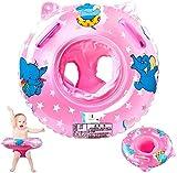 StillCool Flotadores Bebe, Anillo de natación para bebé, Anillo de natación Asient, Lindo Patrón Natación Inflable Flotador para niños Entre 6-36 Meses (Rosado)
