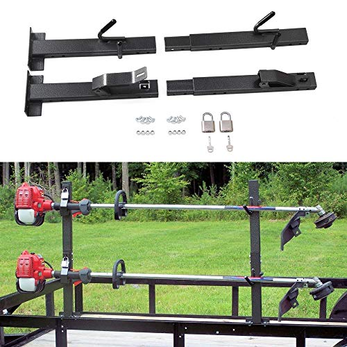 tiewards 2 Place Lockable Trimmer Landscape Trailer Rack Fit...