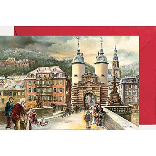 Ansichtskarte mit Adventskalender ''Heidelberg''