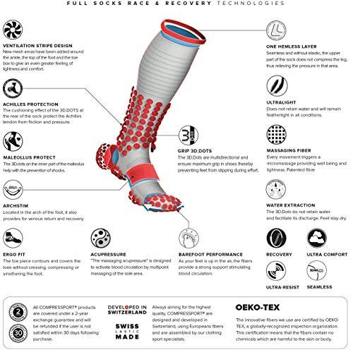 COMPRESSPORT Race & Recovery Full Socks Black Schuhgröße 3M   EU 42-44/30-38cm 2019 Laufsocken - 3