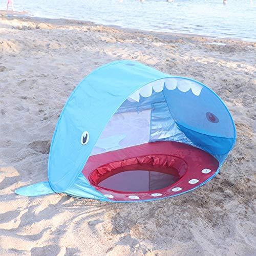 AHWZPHai Form Baby Strand Zelt Pop Up Mit Pool Uv-Schutz Baldachin Sonnenschutz Outdoor Camping Sonnenschirm Für Kinder KinderBlauwal