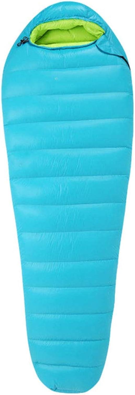 Durable,Breathable,comfortableSleeping Bag, Waterproof Lightweight Nylon Sleeping Bag Indoor Lunch Break Warm Sleep Bags Adults Camping Hiking Portable Sleep Bags,Lakebluee